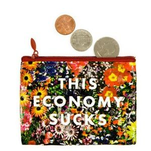 4/$20 This Economy Sucks Recycled coin purse